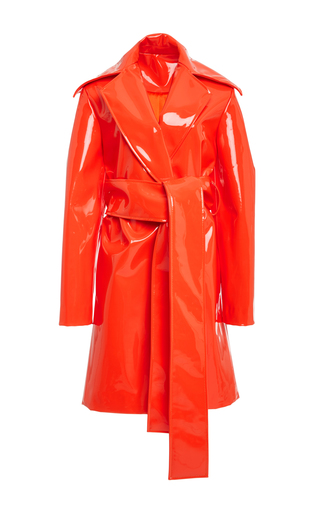 Medium christian siriano orange rubberized trench 2