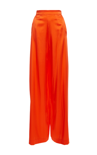 Medium christian siriano orange high rise wide leg pant