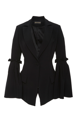 Medium christian siriano black box pleat sleeve jacket