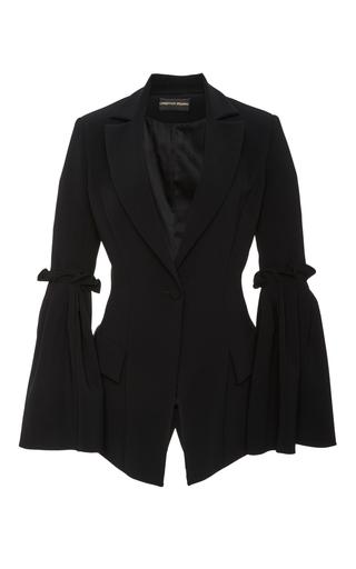 Medium christian siriano black box pleat sleeve jacket