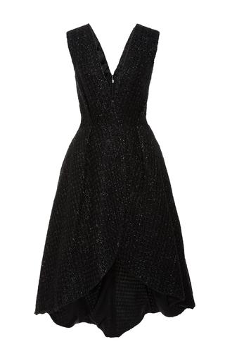 Medium christian siriano black raffia wrap dress