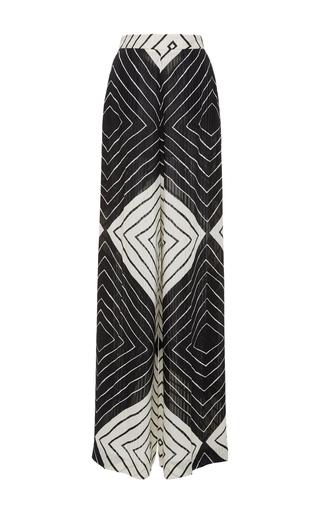 Medium christian siriano black white diamond stripe palazzo pant
