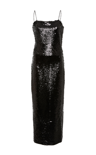 Medium christian siriano black sequin midi dress