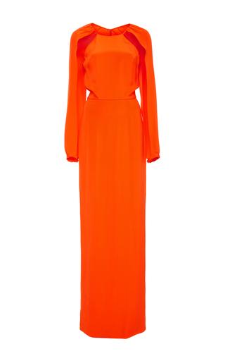 Medium christian siriano orange halter crepe gown