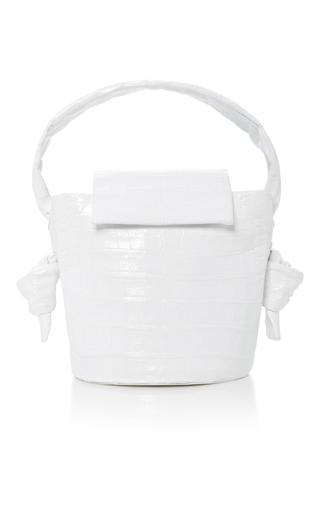 Medium nancy gonzalez white crocodile bucket bag