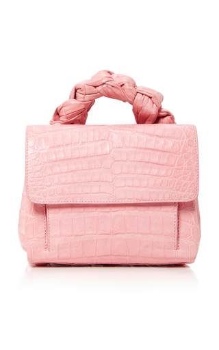 Medium nancy gonzalez pink crocodile tote
