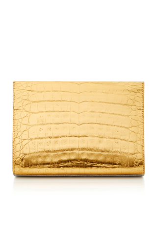 Medium nancy gonzalez metallic metallic crocodile clutch