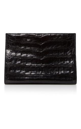 Medium nancy gonzalez black crocodile clutch