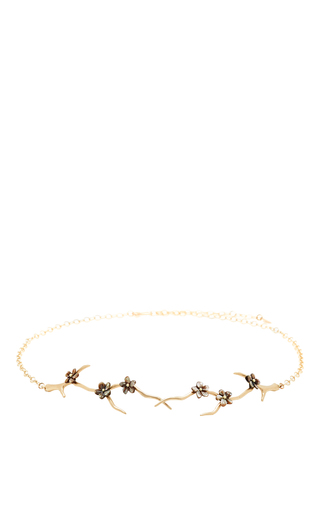 Medium annette ferdinandsen black blossom branch choker with black mother of pearl blossoms