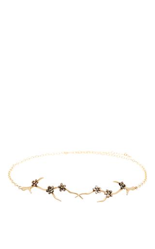Medium annette ferdinandsen black blossom branch choker with black mother of pearl blossoms