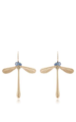 Medium annette ferdinandsen blue damsel earrings with sapphire eyes