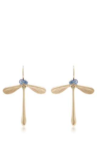 Medium annette ferdinandsen blue damsel earrings with sapphire eyes