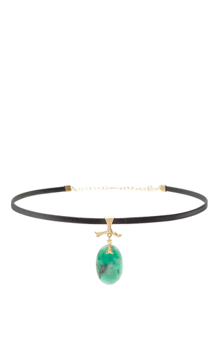 Medium annette ferdinandsen green emerald jewel choker