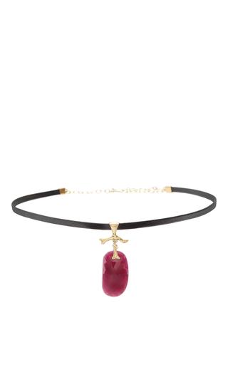 Medium annette ferdinandsen red ruby jewel choker