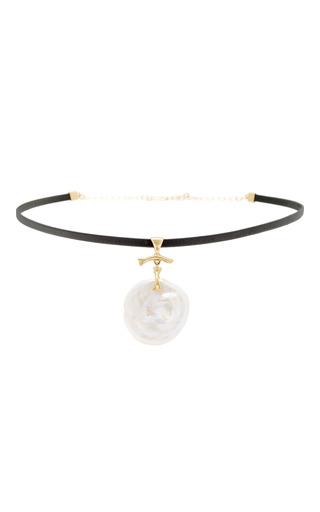 Medium annette ferdinandsen gold natural pearl jewel choker