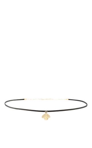 Medium annette ferdinandsen yellow jeweled bug choker with citrine and black diamonds