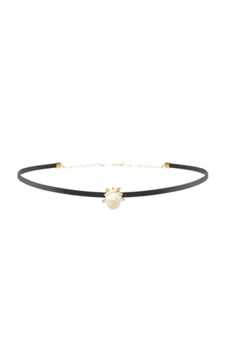 Medium annette ferdinandsen gold white coral rose choker