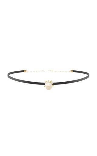 Medium annette ferdinandsen gold white coral rose choker