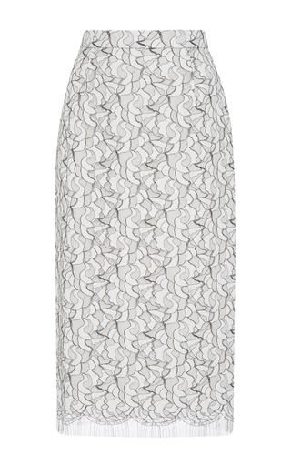 Medium bibhu mohapatra white lace pencil skirt