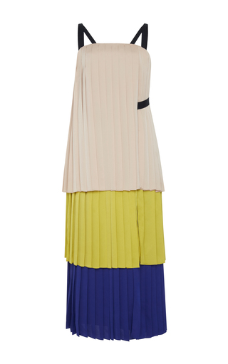 Medium bibhu mohapatra multi tiered pleat midi dress