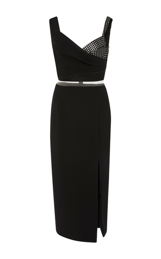 Medium bibhu mohapatra black lace crepe dress