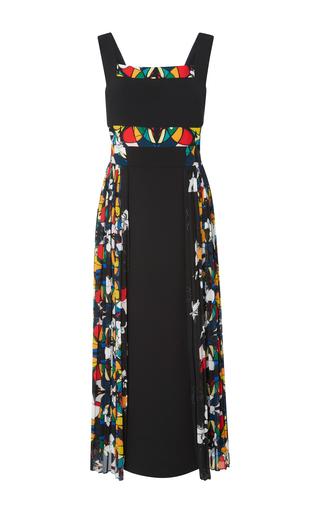 Medium bibhu mohapatra black stained glass printed dress