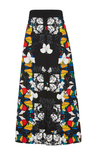 Medium bibhu mohapatra print stained glass printed skirt