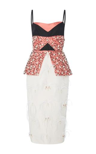 Medium bibhu mohapatra multi embroidered peplum dress