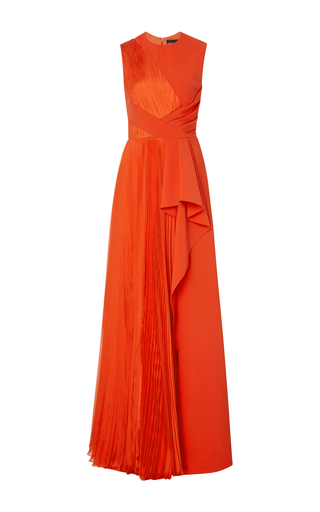Medium bibhu mohapatra pink sleeveless leg slit gown