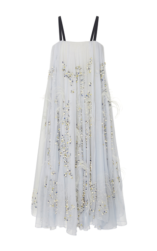 Medium bibhu mohapatra white embroidered swing dress