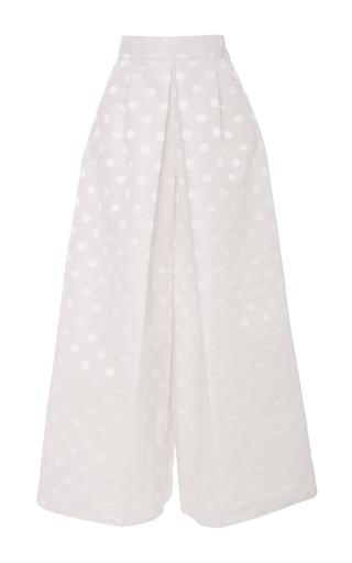 Medium emilio de la morena white elikapeka wide leg dot trouser