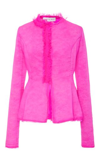 Medium emilio de la morena pink esme fitted ruffle jacket