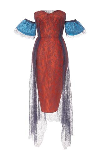 Medium emilio de la morena red emerline off the shoulder lace overlay dress