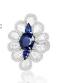 Medium sutra blue wg blue sapphire and diamond nwl ring