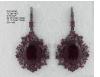 Medium sutra red blkrd pink turml nwl earring