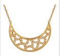 Medium noor fares gold fly me to the moon crescent desert moon necklace 90cm length