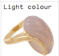 Medium noor fares pink o fly me to the moon glyptique carved wing ring in grey agate with yellow gold brown diamonds