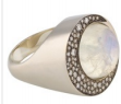 Medium noor fares white tilsam eclipse ring in blue moonstone with grey black gold white diamonds