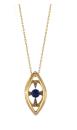 Medium noor fares blue krystallos radial amulet pendant in lapis lazuli with yellow gold white diamonds