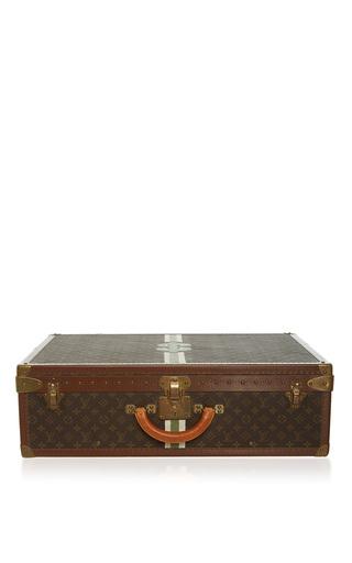 Medium mantiques modern brown vintage louis vuitton suitcase