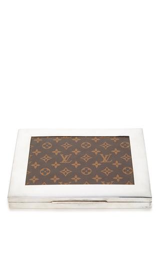 Medium mantiques modern brown vintage louis vuitton decorative box