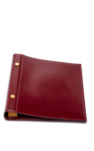 Medium mantiques modern red large hermes cognac leather photo album