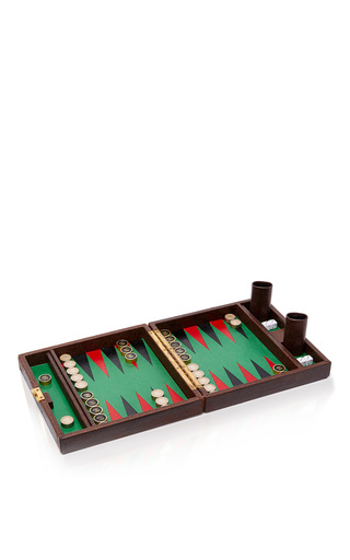 Medium mantiques modern brown vintage gucci travel backgammon set
