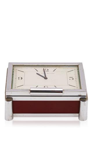 Medium mantiques modern red french art deco clock box circa 1940 s
