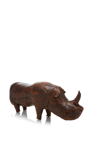 Medium mantiques modern brown large leather abercrombie rhinoceros bench