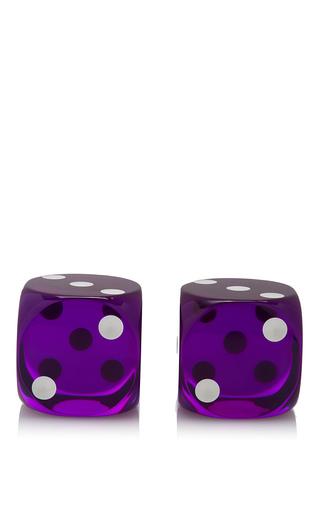 Medium mantiques modern purple giant purple lucite dice