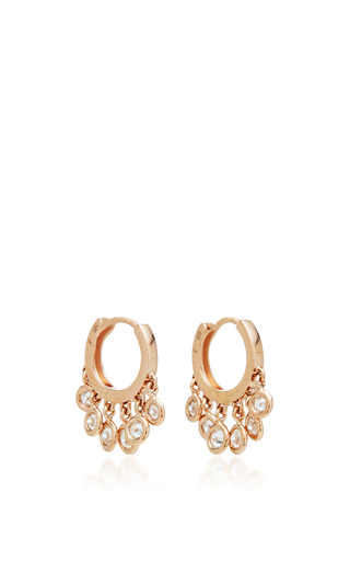 Medium jacquie aiche gold mini shaker hoops