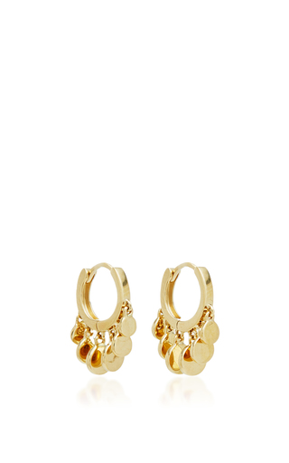 Medium jacquie aiche gold mini disco shaker hoops