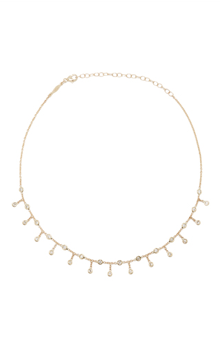 Medium jacquie aiche gold diamond shaker necklace