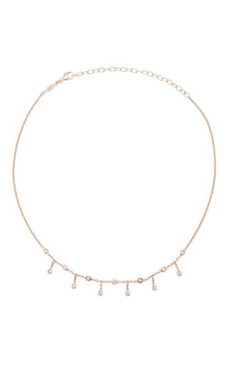 Medium jacquie aiche gold half shaker necklace